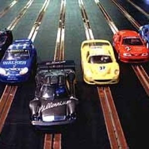 Slot Car Racing - Giant Scaletrix