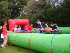 Human Table Football Inflatable Game