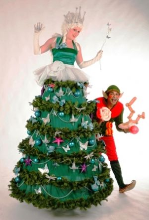 Xmas Theme Stilt Walkers | Christmas Theme Stilt Walkers